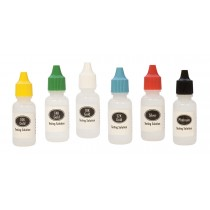 6 Piece Testing Acid Solution Set for Gold Platinum & Silver