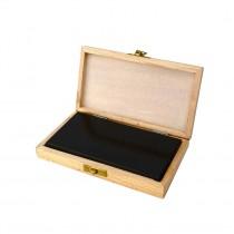"6"" x 3"" x 1/2"" Natural Testing Stone w/ Wooden Storage Box"
