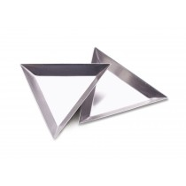 "12 Pack of 3"" Triangular Trays"