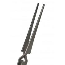 165 mm Blunt Tip Cross-Locking Stainless Steel Tweezers