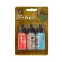 Vintaj® Ranger Patina™ Inks - French Riviera Coral Sandstone & Turquoise