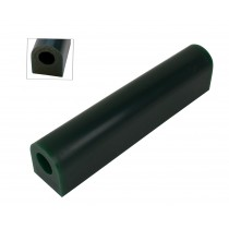 Wax Ring Tube - Dark Green Large Flat Side (FS-5)