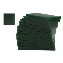 Hard 1/2 Lb Dark Green Wax Carving Block - 15 Slices