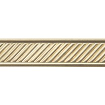 3' Red Brass Pattern Wire - Slant w/ Border 16 Gauge