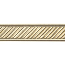 3' Red Brass Pattern Wire - Slanted Lines with Border 16 Gauge