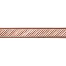 3' Copper Pattern Wire - Slant w/ Border 16 Gauge