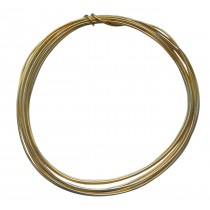 10' Round Red Brass Wire - 16 Gauge