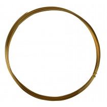 25' Half Round Half Hard Red Brass Wire - 20 Gauge