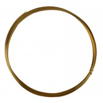25' Half Round Half Hard Red Brass Wire - 18 Gauge