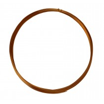 25' Half Round Half Hard Copper Wire - 22 Gauge