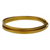 32 Gauge Red Brass Bezel Wire - 10 Feet