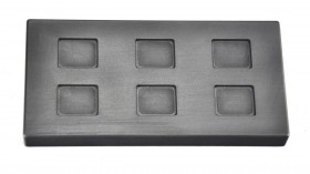 10 Gram Multi Cavity Silver Rectangular Graphite Ingot Mold