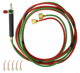 Smith Little Torch Kit w/ Five Tips For Acetylene Propane Natural Gas MAPP and Hydrogen Model 23-1001D