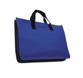Blue Canvas Tote (Opens Flat)
