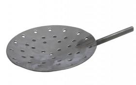 "12"" Diameter Stainless Steel Shallow Dish Skimmer w/ Holes"