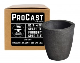 No 3 - 4 Kg Clay Graphite Foundry Crucible