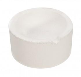"12 oz 3"" Diameter Ceramic Alumina Crucible"