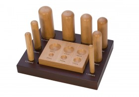 Wooden Dapping Set