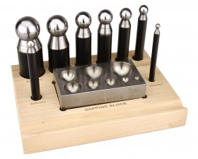 10 Piece Dapping Doming Punch Block Set - 5-27 mm