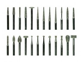 24 Piece High-Speed Diamond Point Set - Coarse