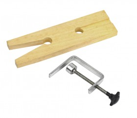 Wooden Bench Pin with V-Slot and Clamp