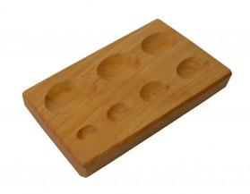 """Oval Shape Dapping Block 7 cavity Sizes: 6-1/2"""" x 3-1/2"""" x 3/4"""""""