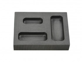 1/4-1/2-1 Troy Ounce Gold Combo Graphite Ingot Mold