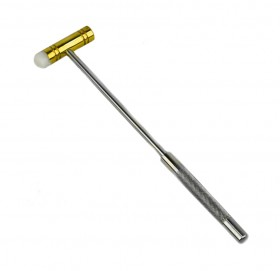 "9"" Dual-Sided Nylon and Brass Hammer"