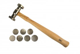 Texturing Pattern Hammer w/ 7 Interchangeable Faces