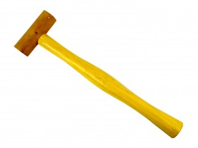 """1"""" Natural Rawhide Leather Mallet"""
