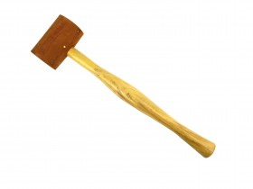 """2"""" Natural Rawhide Leather Mallet"""