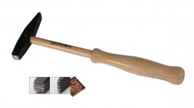 """8-1/2"""" Wubbers Artisan's Mark Square Texture Hammer"""