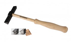 """8-1/2"""" Wubbers Artisan's Mark Triangle Outer Texture Hammer"""