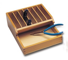 "Wooden Plier Rack - 2-1/2"" x 6-1/2"" x 7"""
