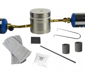 Premium Mini Kwik Kiln Gold Silver Copper Melting Propane Furnace Kit