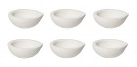 Set of 6 100 Gram 3 oz Ceramic Alumina Crucible Dishes