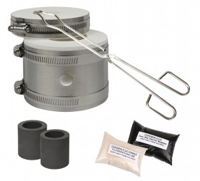 Mini Kwik Kiln Kit w/ Tongs Chapman Flux, Flux Thinner & 2 Crucibles