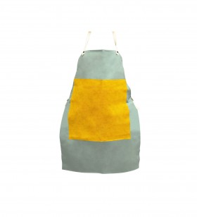 "Flame Retardant Apron w/ Leather Patch 24"" x 36"""