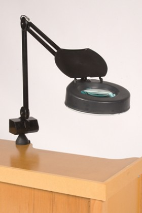 """1.25X Black Magnifier Lamp w/ a 5"""" Lens"""