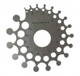 Aluminum Stone and Mounting Gauge w/ Millimeter and Carat Measurements