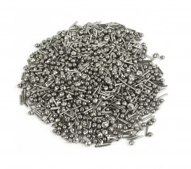 Mixed Stainless Steel Media for Tumblers (Balls, Cross, Pins, and Satellite Shapes)