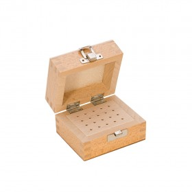 Wood Bur Box w/ 20 Holes