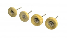 "4 Pack of 1"" Chamois Mounted Polishing Buff Wheels"