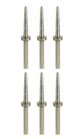 "Set of 6 Threaded Mini Arbor Mandrels w/ 3/32"" Shanks"
