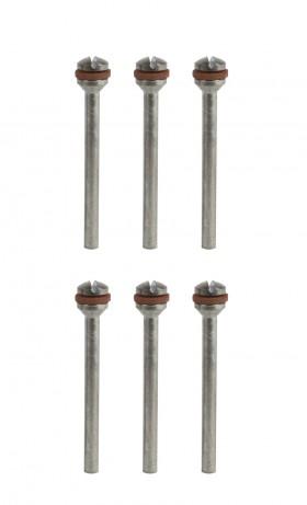 "6 Piece Set of Polishing Mandrels w/ Reinforced Screw and 3/32"" Shank"