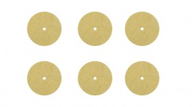 "Set of 6 - 1/8"" Thickness x 1"" Diameter Soft Polishing Discs"