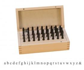 """27 Piece Lower Case Block Letter Set - 1/8"""""""