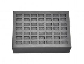 5 Grain Multi Cavity Silver Rectangular Graphite Ingot Mold