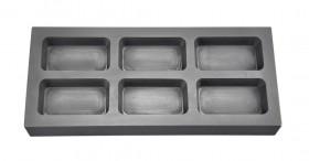 10 Troy Ounce Multi Cavity Silver Rectangular Graphite Ingot Mold
