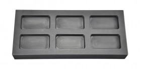 2 Troy Ounce Multi Cavity Silver Rectangular Graphite Ingot Mold